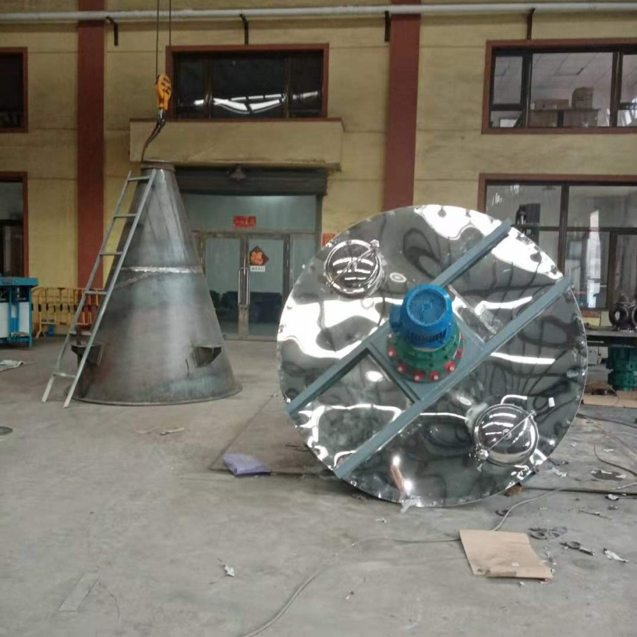北腾生产悬臂双螺旋锥形混合机   不锈钢双螺旋混合机