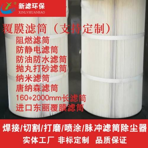PTFE覆膜滤筒 阻燃滤筒 打砂滤筒 纳米滤筒 防油防水滤筒