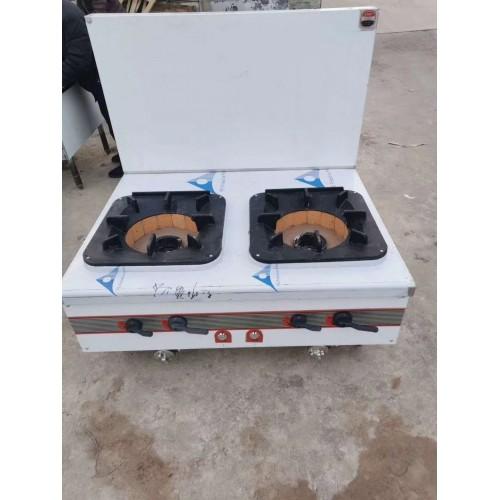 不锈钢燃气工程款双头矮仔炉低汤灶