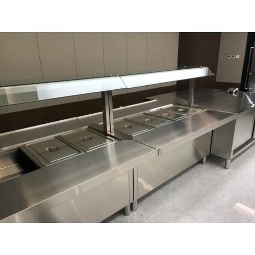 不锈钢厨房设备保温售饭台