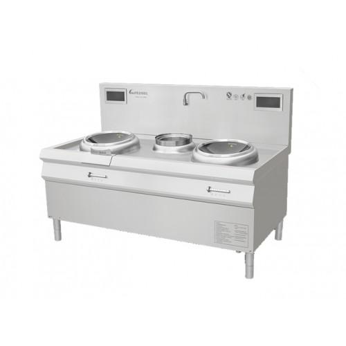 商用电磁炒菜灶,电磁炉,双炒单温电磁灶